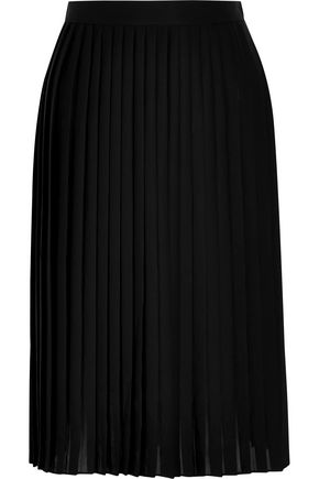 GIVENCHY Pleated skirt in black matte-satin