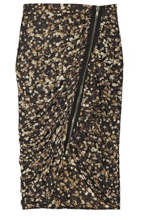 GIVENCHY Crystal-embellished printed jersey skirt