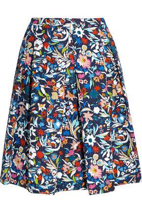 SALONI Lexi printed matelassé skirt