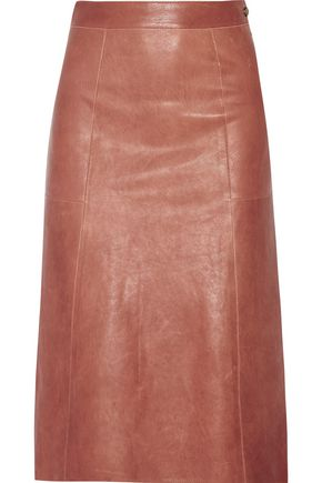 VANESSA BRUNO Doma washed-leather skirt