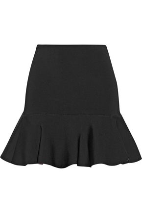 ISSA Arabella fluted woven mini skirt