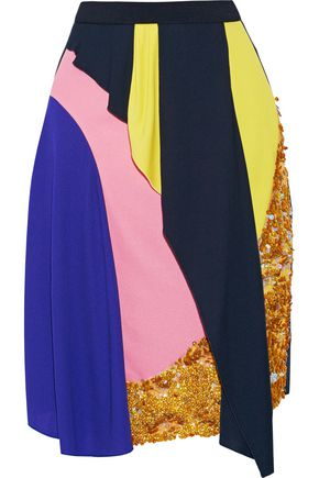 PETER PILOTTO Mirage sequined draped crepe skirt