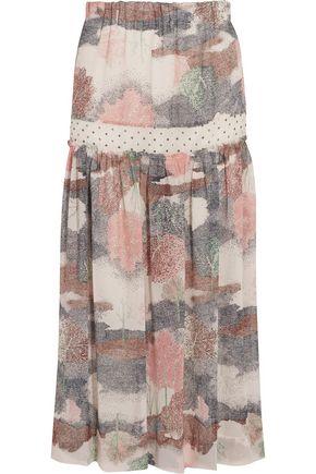 SEE BY CHLOÉ Printed crepe-chiffon midi skirt