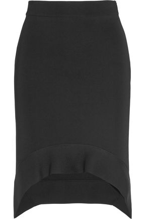 GIVENCHY Cutaway skirt in black stretch-ponte