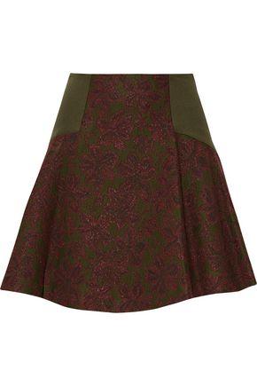 ALICE + OLIVIA Elsie metallic jacquard-knit mini skirt