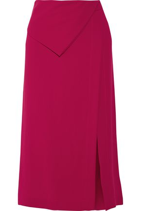 DION LEE Split crepe midi skirt