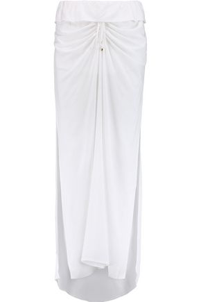 VIX PAULAHERMANNY Ruched voile maxi skirt