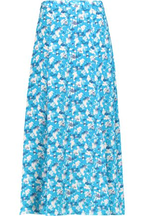 TANYA TAYLOR Wixson printed silk crepe de chine maxi skirt