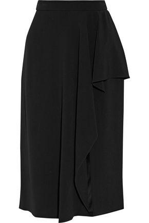 CUSHNIE ET OCHS Ruffled stretch-cady skirt