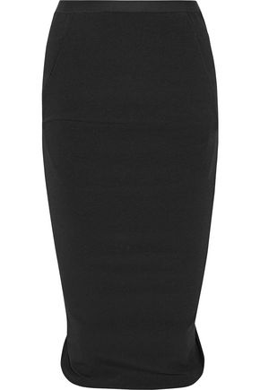 RICK OWENS Pillar stretch cotton-blend skirt