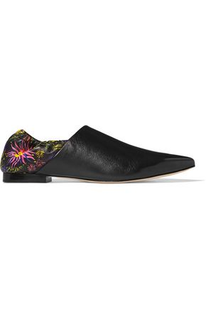 3.1 PHILLIP LIM Floral-print leather slippers