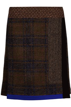 ETRO Wool, silk and alpaca-blend tweed skirt
