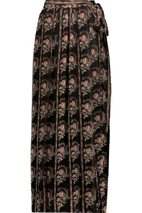 ISABEL MARANT ÉTOILE Sesley floral-print silk-voile maxi wrap skirt