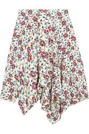 ISABEL MARANT Rachel asymmetric floral-print silk skirt
