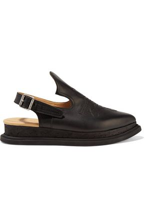 MM6 MAISON MARGIELA Leather slingback slippers