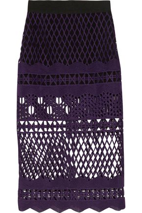 SELF-PORTRAIT Guipure lace midi skirt