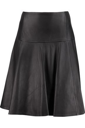 MICHAEL MICHAEL KORS Pleated leather skirt