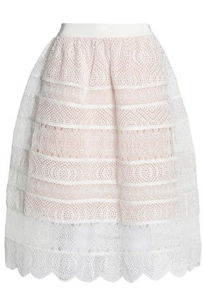 ZIMMERMANN Paneled lace and broderie anglaise skirt