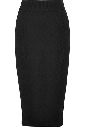 PIERRE BALMAIN Pointelle-knit midi skirt