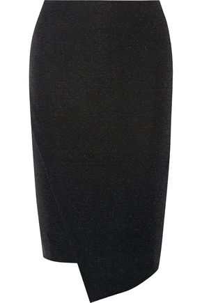 BY MALENE BIRGER Nilonasho asymmetric metallic stretch-knit skirt
