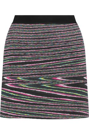 MISSONI Intarsia wool-blend mini skirt