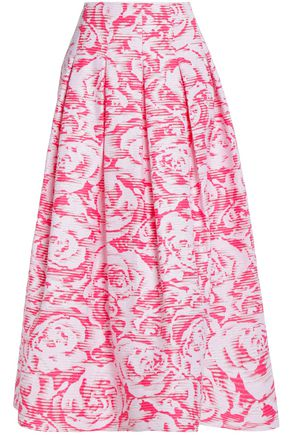 OSCAR DE LA RENTA Cotton-blend maxi skirt