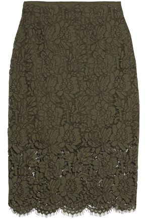 DIANE VON FURSTENBERG Glimmer corded lace skirt