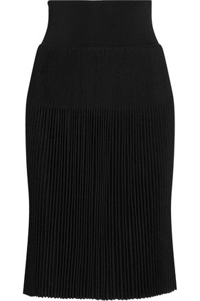 GIVENCHY Plissé stretch-knit skirt