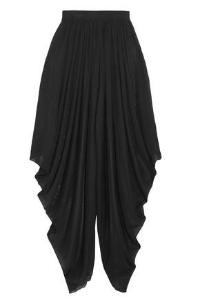 BALMAIN Draped knitted wide-leg pants