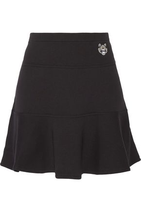KENZO Pleated cotton mini skirt