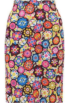 EMILIO PUCCI Printed stretch-jersey skirt