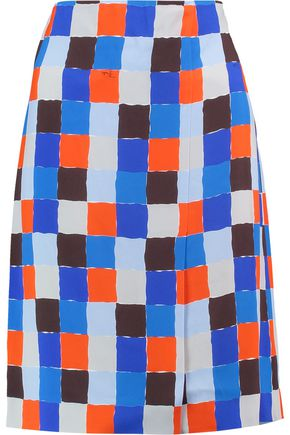 EMILIO PUCCI Checked crepe skirt