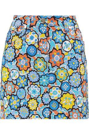 EMILIO PUCCI Printed cotton-blend mini skirt