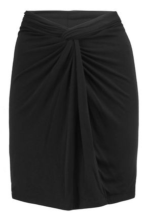 IRO Ruched stretch-jersey mini skirt