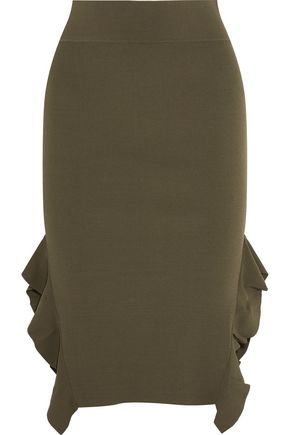 OPENING CEREMONY Ruffle-trimmed stretch-knit skirt