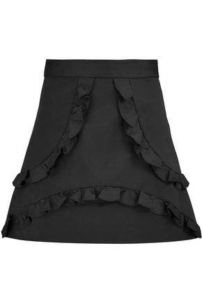 ALEXIS Tiziana ruffle-trimmed cotton-blend mini skirt