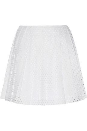 McQ Alexander McQueen Perforated cotton-poplin mini skirt