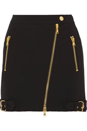 MOSCHINO Asymmetric crepe mini skirt