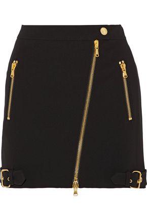 MOSCHINO Asymmetric crepe mini skirt