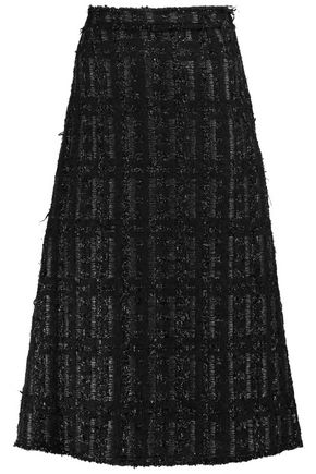 SIMONE ROCHA Metallic bouclé midi skirt