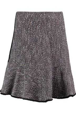 ETRO Fluted paneled cotton-blend jacquard skirt