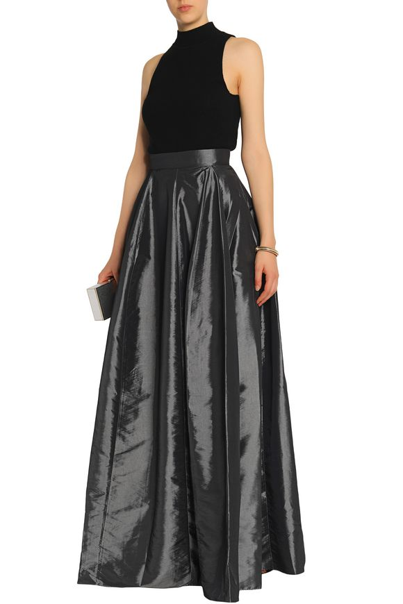 Pleated taffeta maxi skirt | HALSTON HERITAGE | Sale up to 70% off | THE  OUTNET