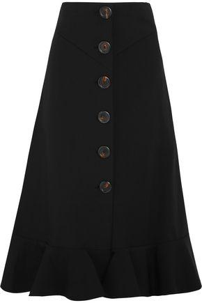 A.W.A.K.E. Fluted stretch-knit midi skirt