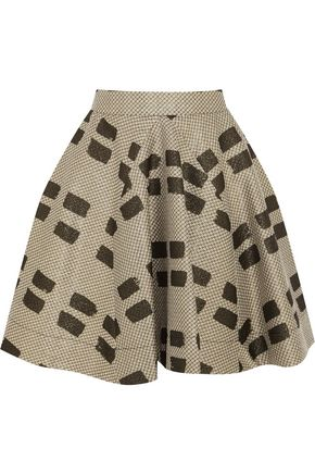 VIVIENNE WESTWOOD ANGLOMANIA Pleated printed woven mini skirt