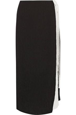 REJINA PYO Zoe wrap-effect pintucked crepe midi skirt