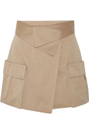 MONSE Cotton-canvas wrap mini skirt