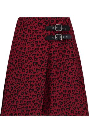 COACH Printed silk mini wrap skirt