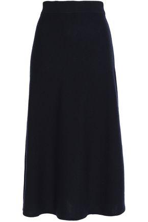 CHLOÉ Fluted mélange cashmere midi skirt