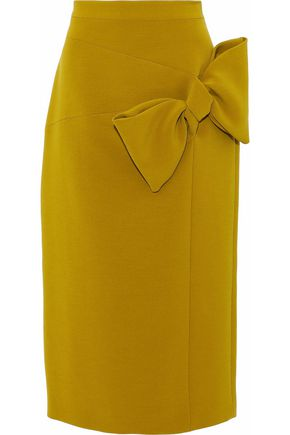 ROKSANDA Knotted crepe midi pencil skirt