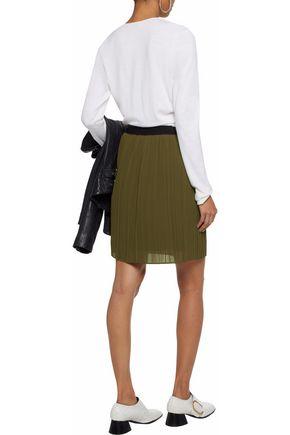 BY MALENE BIRGER Two-tone cady plisse mini skirt